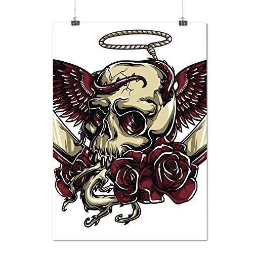 skull-curse-blades-devil-lair-matte-glossy-poster-a4-9x12-inches-wellcoda