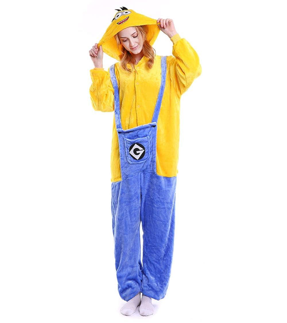 Engerla Minions Kigurumi Hooded Pajamas Onesies Sleepwear