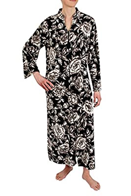 Heavenly Bodies Brushed Velour Fleece Robe, Ultra Soft Long Coverup with Long Sleeves and Full Length Zipper