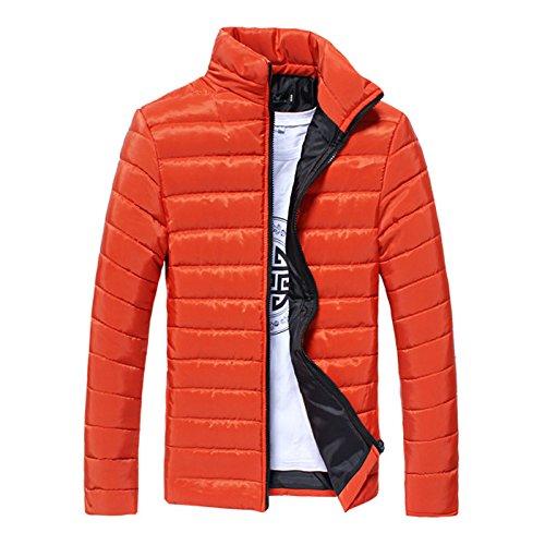Tempo In Libero Imbottita Il Xl Sottili Moda Collare Cotone Uomini Arancio inverno Per Degli Hhy Giacca twqgX4a
