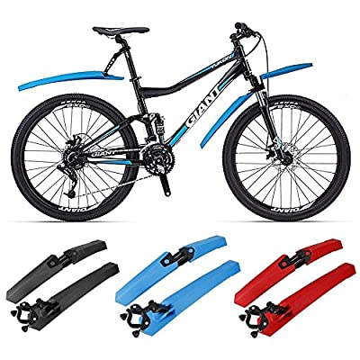 Flexzion Bicycle Fenders Set Cycling Front Rear Mud Guards Tire Tyre Mudguard Fixed Folding Kit Quick Assemble and Release for Mountain BMX Racing Touring Road Bike
