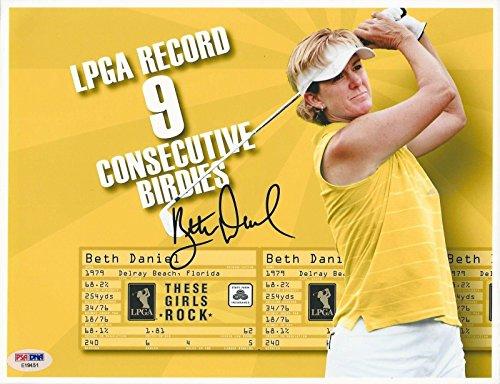 Autographed Beth Daniel Photo - Golfer 8x10#E19451 - PSA/DNA Certified - Autographed Golf Photos (Photo Certified Golf 8x10 Autograph)