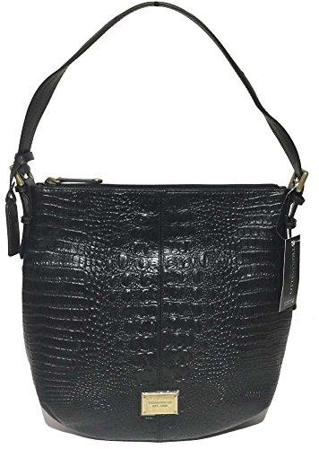 Hobo Handbag Croco (Tignanello Classic Beauty Hobo, Black/Black, A261355)