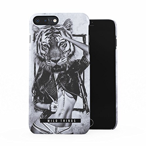 Wild Things Tiger Head Wild Naked Naughty Girl Tumblr Plastic Phone Snap On Back Case Cover Shell Compatible with iPhone 7 Plus & iPhone 8 Plus (The Best Boobs Tumblr)
