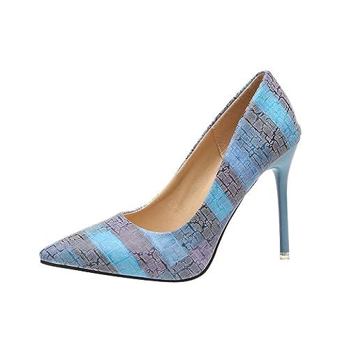 05dcac67 Zapatos Mujer,Moda de la Mujer Tacones Delgados Zapatos Salvajes Mixtos  Colores Bajos Zapatos de tacón Alto: Amazon.es: Zapatos y complementos