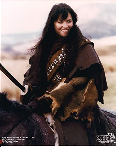 Xena Princess Warrior Lucy Lawless Close Up on Horse Wearing Fur Pelts 8 x 10 Photo by Xena: Princes Warrior