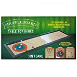 StealStreet SS-KI-OS190 3-in-1 Shuffleboard Table Top Game