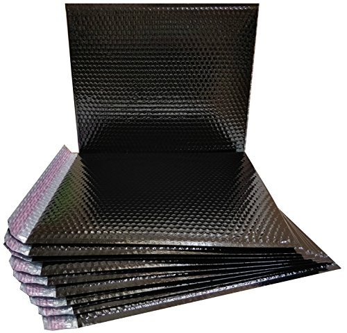 20 Pack Metallic Bubble mailers 7 x 6.75. Black padded envelopes 7 x 6 3/4. Glamour bubble mailers Peel and Seal. Padded mailing envelopes for shipping, packing, packaging. by ABC Pack & Supply