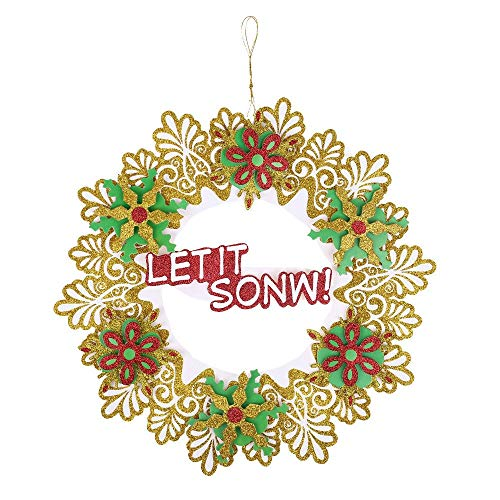(Wreaths & Garlands - 1 Pc 35 Cm Christmas Holiday Paper Wreath Door Ornament Garland Decoration - Garland Exterior Vine & Flower Curtain Easter Santa Snowman Table Christma Door Door Costum)