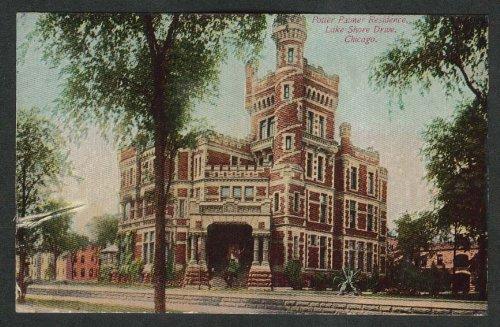 Potter Palmer Residence Lake Shore Drive Chicago IL postcard 1911