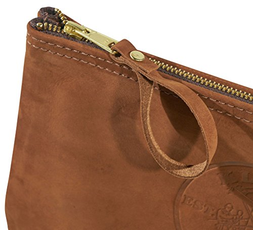Klein Tools 5139L 12-1/2-Inch Top-Grain Leather Zipper Bag,Tan