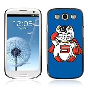Designer Depo Hard Protection Case for Samsung Galaxy S3 / Lucky Cat Charm Statue