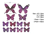 Butterfly Wall Decals, 24 Pcs 3D Butterfly