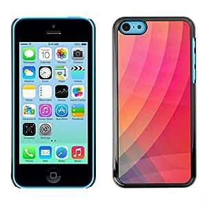 FECELL CITY // Duro Aluminio Pegatina PC Caso decorativo Funda Carcasa de Protección para Apple Iphone 5C // Gradient Color Pink Stripes Art Modern