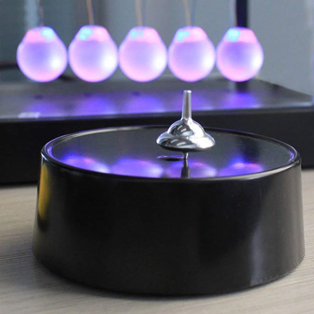 Lieja Magnetisches dauerhaftes Gyro-kreatives k/örperliches Lehrinstrument-Inneneinrichtung Basteln,magisch Kreisel,H/ör Niemals auf zu drehen