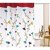 Beddingeer Fiore Tenda Da Doccia Anti-muffa,Con 12 Ganci , 120 x 200 cm