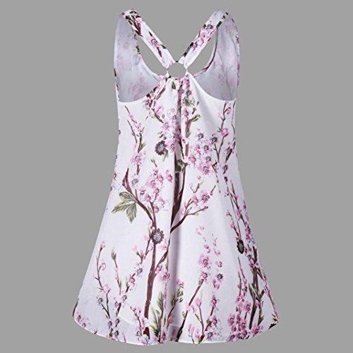 Debardeur Shirt T Blouse Manches Chemisier Tank Sexyville sans Camisole Veste Chemise Impression Femme Tops Rose Tops tEHBI