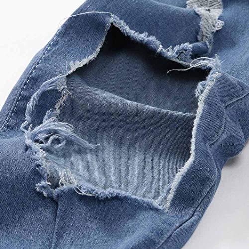 Distrutti Sportivi Uomo Per Pantaloni Blau Ragazzo Con lannister Chiusura Il Jeans Feroce Qk Denim Da Casual Buco IxPnwqtv5v