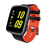 GFT GV68 Smart Watch with 1.54 inch TFT HD LCD Display and Silicone Strap,Support Ver 4.0 Bluetooth IP68 Waterproof Bluetooth Smartwatch Compitable for iOS and Android Smartphones (Red)
