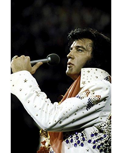 Globe Photos ArtPrints Elvis Presley Performing In A Beaded Jumpsuit - 11
