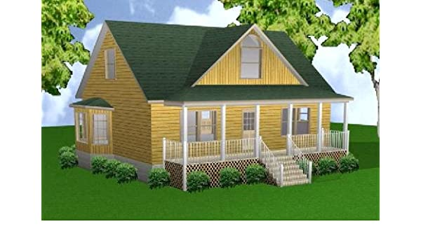 Merveilleux 28x36 3 Bedroom 2 1/2 Bath Plans Package, Blueprints, Material List. By Easy  Cabin Designs