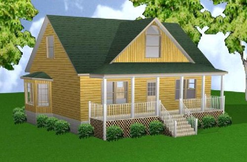 Easy Cabin Designs 28x36 3-Bedroom 2-1/2 Bath Plans, used for sale  Delivered anywhere in USA