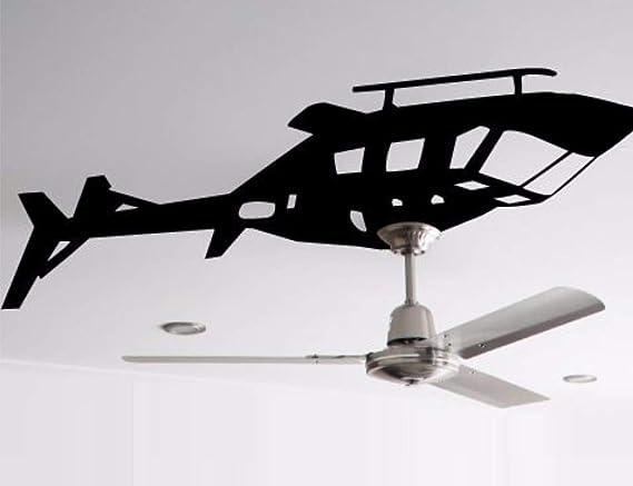Helicóptero Ventilador de techo ventilador de Vinilo ~ o luz ...