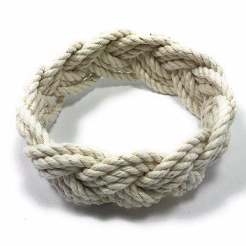 (Original Natural White Cotton Sailor Knot Bracelet )