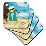 3dRose Sandy Beach Sandman with Ocean View Fun