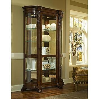 Sofaweb.com Brown Finish Half-Round Curio Cabinet