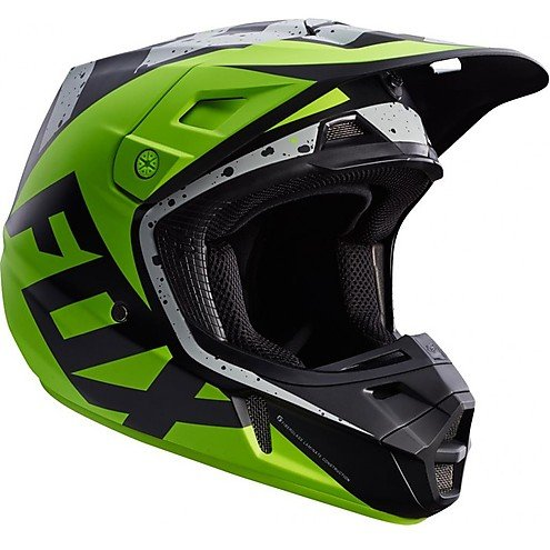Casco Moto Cross Enduro Fox V2 nirv de fibra Grey Yellow Small: Amazon.es: Coche y moto