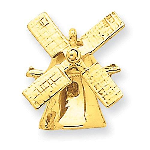 JewelryWeb 14 carats-Breloque moulin à vent