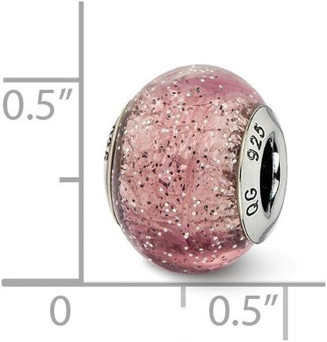 10 Cuentas Perlas Look Lila Con 925 núcleos para todo estilo europeo encanto Pulseras