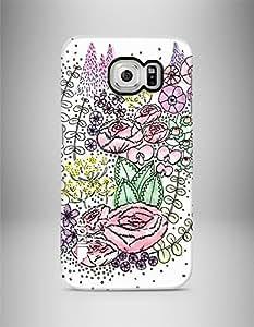 """april® Funda carcasa para Samsung Galaxy S6, """"Pink bloom"""" diseño exclusivo hecho a mano estampado flores"""