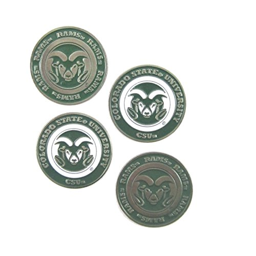 Colorado State Rams Double Sided CSU Golf Ball Marker (Set of Four)