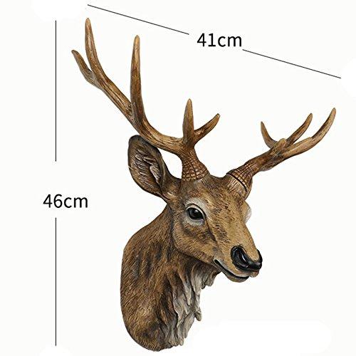 (ラシューバー) Lasuiveur 壁掛け 鹿 オブジェ 壁飾り アニマルヘッド インテリア 動物 おしゃれ ファション 工芸品 新築祝い 新築飾り B07922Z1NJ C C