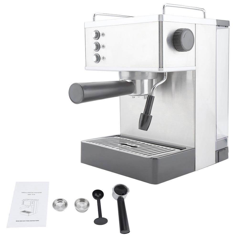 Coffee Machine, Stainless Steel Espresso Coffee Machine Coffee Maker High Pressure Italy Pump(US Plug) by Sugoyi