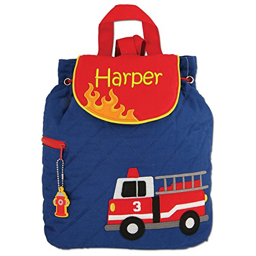 Personalized Stephen Joseph Firetruck Quilted Backpack with Embroidered ()
