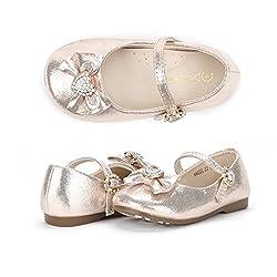 Bow Heart Rhinestone Buckle Ballerina Flat