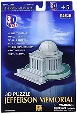 Daron Jefferson Memorial 3D Puzzle 35-Piece