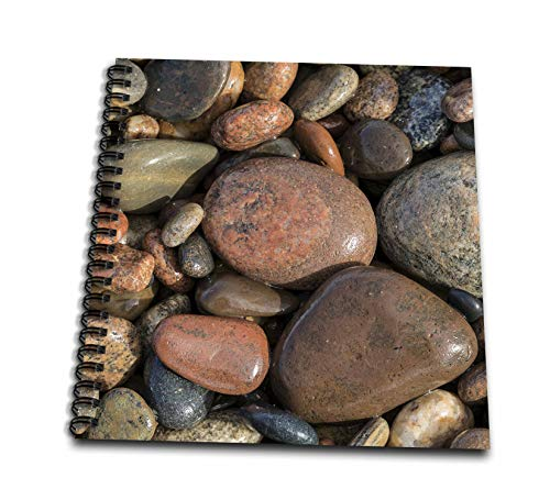 - 3dRose Danita Delimont - Natural Patterns - Smooth granite pebbles on beach of Lake Superior, Michigan. - Memory Book 12 x 12 inch (db_314858_2)