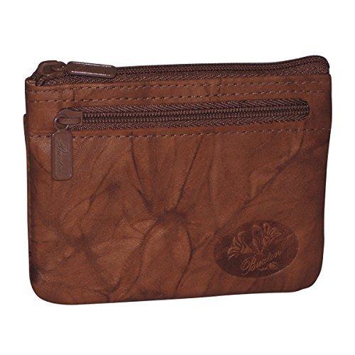 Buxton Heiress Pik-Me-Up I.D. Coin/Card Case, mahogany