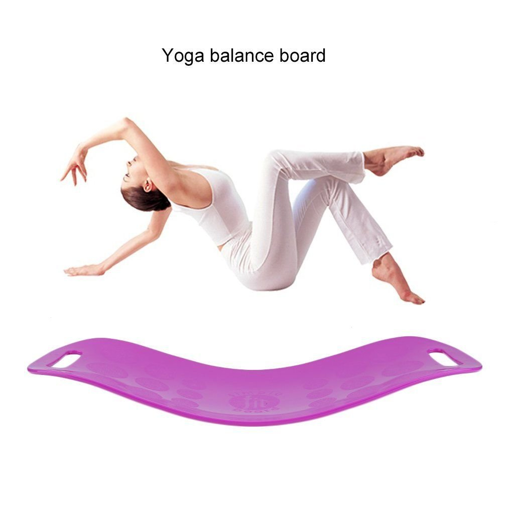 elegantstunning Home Exercise Equipment Workout Sport Yoga Fitness Twist Board Balance Board Violett