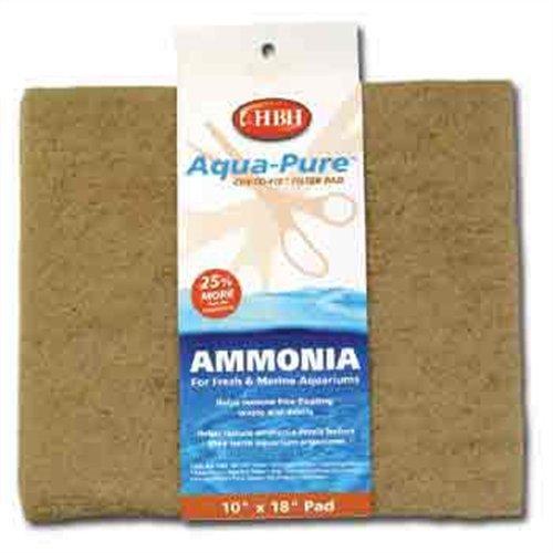 H.B.H. Enterprises AHH30027 Ammonia Pad for Aquarium Filter, 10 by (Hbh Fish Aquarium)