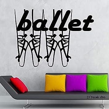 Apliques Ballet Dance Tatuajes de Pared Teatro Arte Etiqueta de La ...