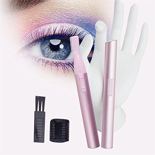 Price comparison product image Denshine® Portable Bikini Line Hair Trimmer Electric Eyebrow Shaver Face Body Hair Razor 1 Pack