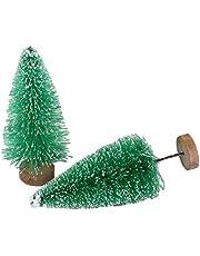FAVOMOTO Kerst Decoratie Pvc Doos Kleine Kerstboom Gift Blauw Groen Wit Goud Tasson Mini Kerstboom Tafeldecoratie (8. 5Cm Doos 12 Groen)
