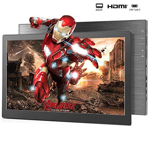 Portable Monitor 15.6-inchSlimIPSGamingScreen Dual External Monitor for Laptop Computer Mac Phone with 2xUSB Type-C/Mini HDMI&DP PortPS4Xbox,Nintendo,Raspberrypi,MiniPC,Mobile 2K 60Hz 3ms