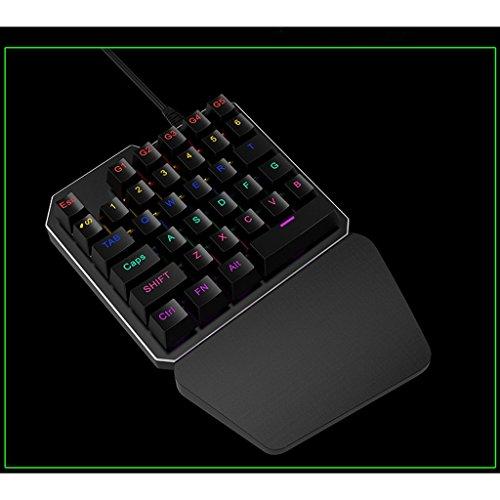 Teclado Numérico KeypadGaming El Nuevo Tablero con Teclas Programables LED Retroiluminado PC Portátil Cableado USBErgonómico Juego Teclado Compatible con ...