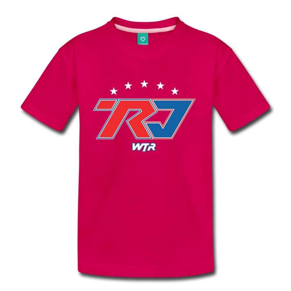 ATHLETE ORIGINALS Toddler Premium T-Shirt Wtr Racing by Ricky & Jordan Taylor Youth 4T Dark Pink
